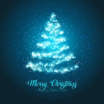 Albero brillante di Natale