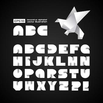Alfabeto futuristico