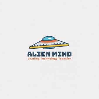 Alien logo su uno sfondo bianco