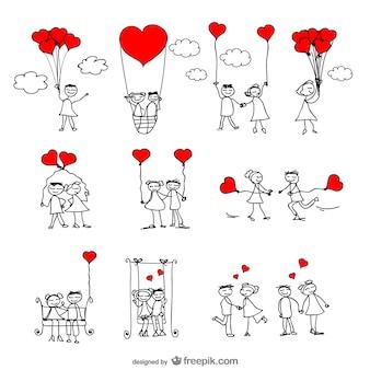 Amore illustratore vettoriale