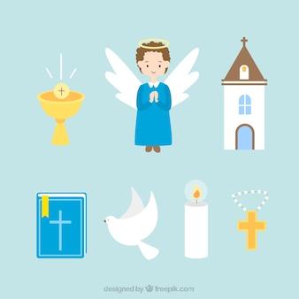 Angelo e elementi religiosi
