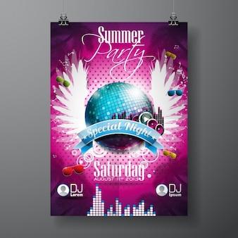 Anno nuovo poster design partito