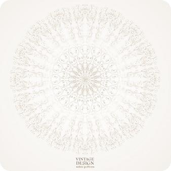 Antica bellezza floreale bianco elegante
