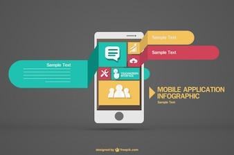 Applicazione mobile infographic