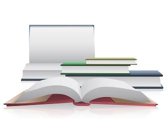 Apri libri su sfondo bianco