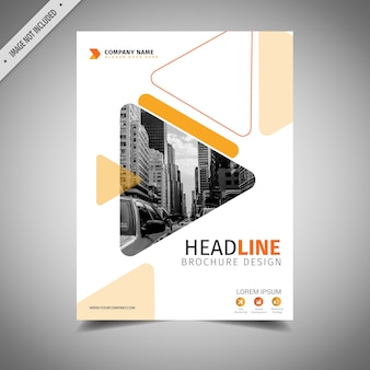 Arancione e bianco design brochure aziendale