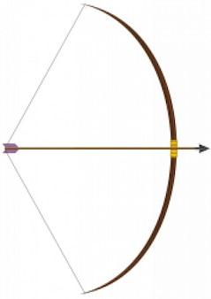 arco con la freccia
