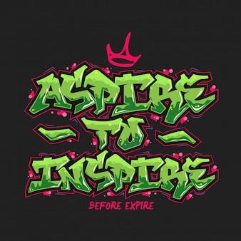 Aspira a ispirare la tipografia