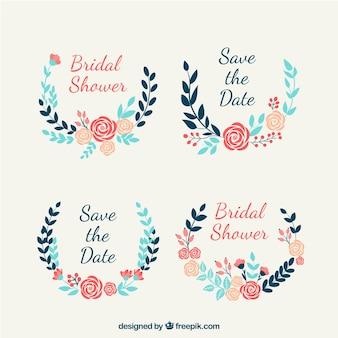 Assortimento di cornici di nozze piuttosto floreali
