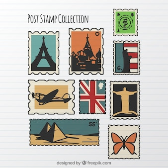 Assortimento di francobolli d'epoca