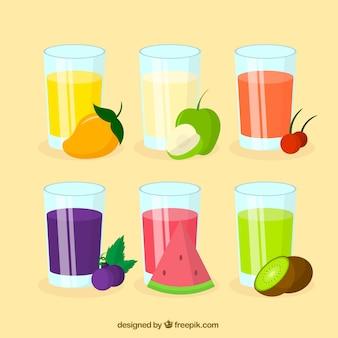 Assortimento di succhi di frutta saporite
