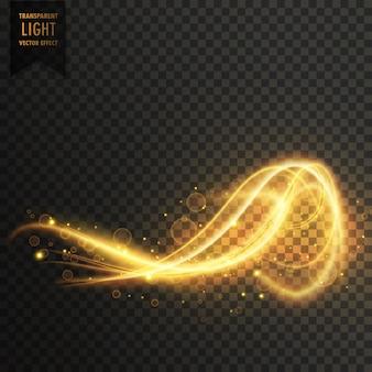 Astratto astratto dorato luce trasparente sfondo vettoriale effetto