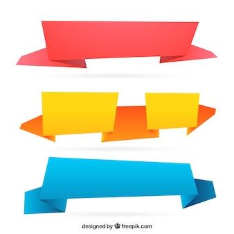 Astratto banner colorati