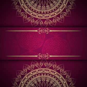 Astratto bello sfondo di design mandala