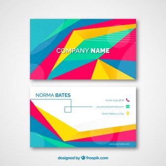 Astratto carta colorata aziendale
