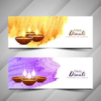 Astratto Felice diwali banner design
