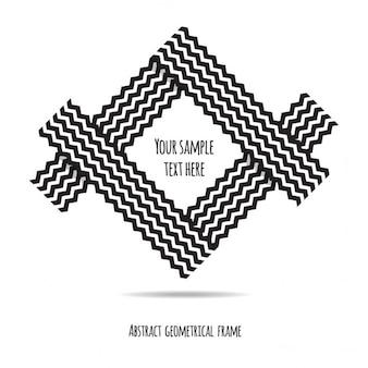 Astratto geometrico cornice d'epoca in stile tribale nero