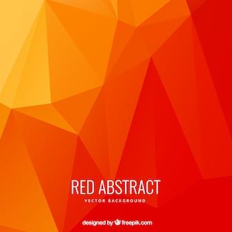 Astratto poligoni sfondo nei toni rossi