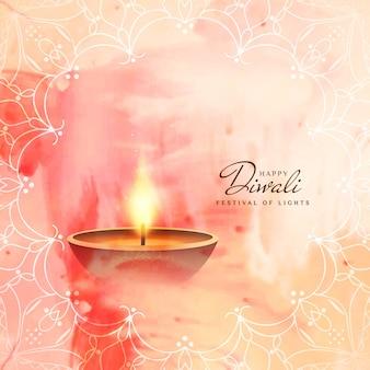 Astratto religioso Diwali sfondo felice