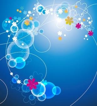 astratto sfondo blu floral vector