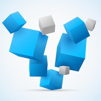 Astratto sfondo cubi 3d