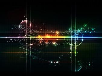 astratto sfondo futuristico grafica vettoriale