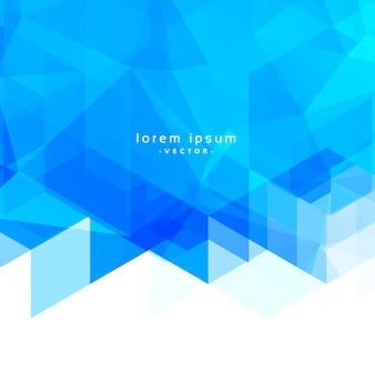 Astratto sfondo geometrico triangolo blu