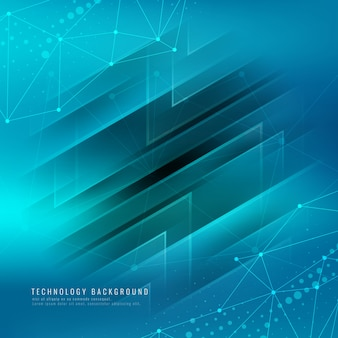 Astratto sfondo tecnologico moderno blu