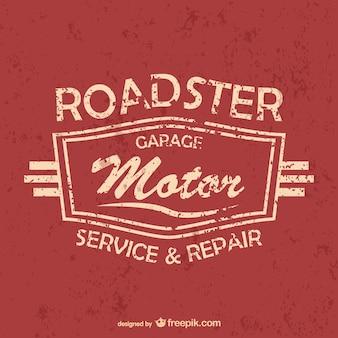 Auto di servizio e garage vettoriali gratis