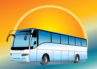 Autobus urbano con sfondo brillante