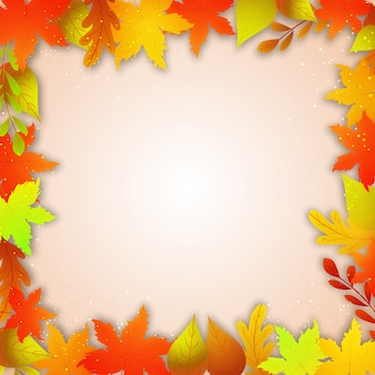 Autumn leaves background, Happy Happy Thanksgiving Day concetto.