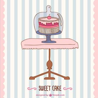 B-day cake vector retro della carta