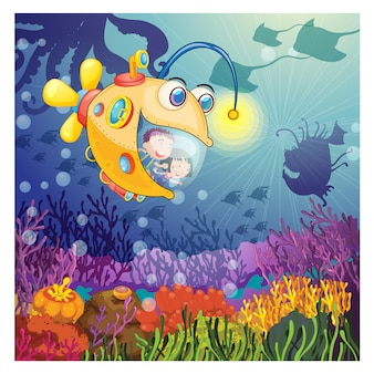 Background design Deep Ocean