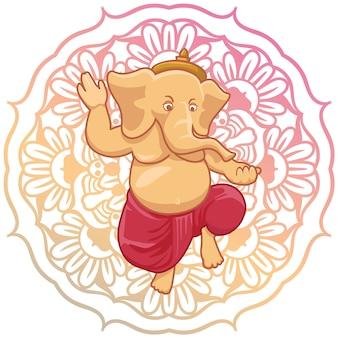 Background design Ganesha