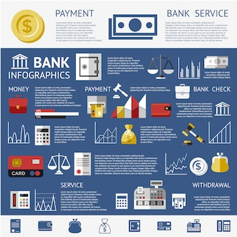 Background infografica della banca