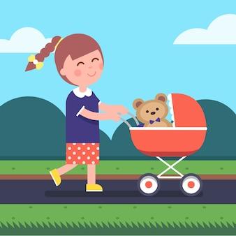 Bambina, gioco, madre, figlia, gioco