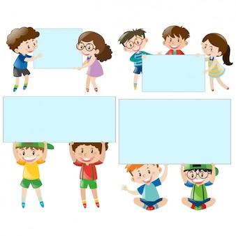 Bambini con raccolta cornici