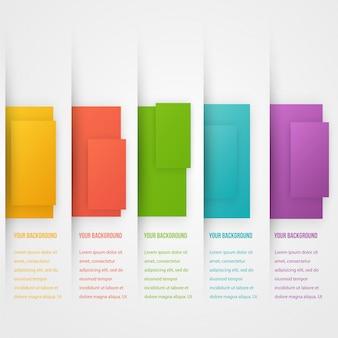 Bandiera astratta modello triangolo. Set di colori