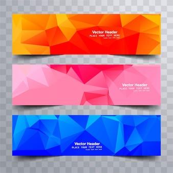 Bandiere poligonali colorate