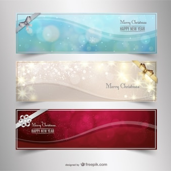 Banner di Natale luminoso