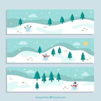 Banner di paesaggio invernale
