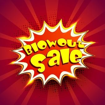 Banner di stile Pop Art per Blowout Sale.
