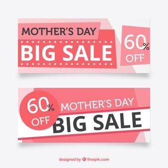 Banner di vendita rosa per la festa della mamma