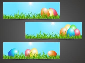 Banner insieme di Pasqua