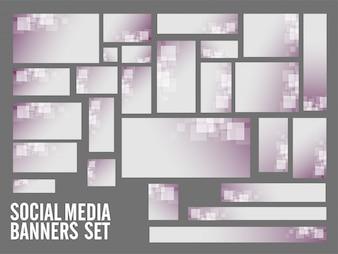 Banner Social Media con quadrati.