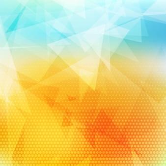 Basso sfondo astratto poliedrico