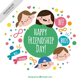 Bella amicizia day background