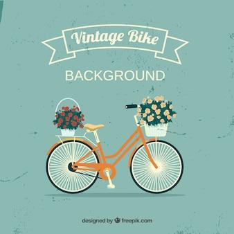 Bella bici sfondo con nastro