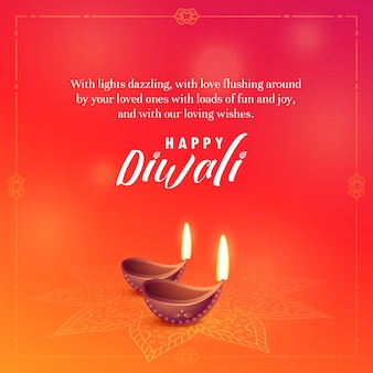 Bella diwali desidera disegno vettoriale di sfondo