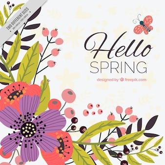 Cornice con fiori e farfalle scaricare foto gratis for Fiori disegnati
